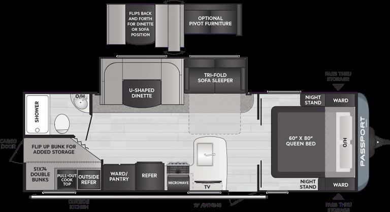 keystone passport sl 268bh travel trailer